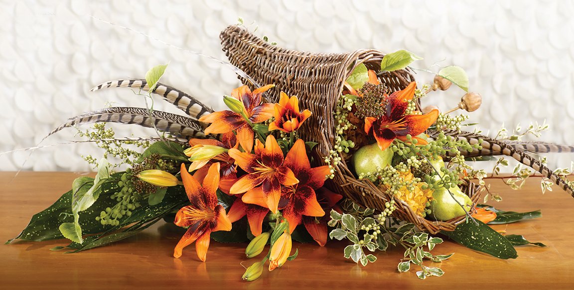 Orange Art Tango Lily Bouquet Featured In Flowers Magazine
