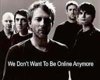 Radiohead erased online image