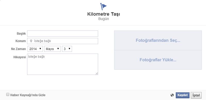 Facebook Sayfasındaki Kilometre Taşı