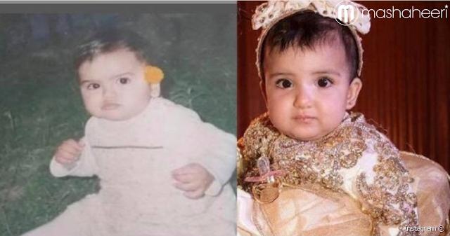 حصرياً دنيا بطمة حين كانت طفلة صغيرة هل تشبه إبنتها ام لا؟؟
