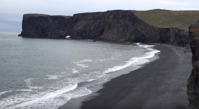 Reynisdrangar's black sand