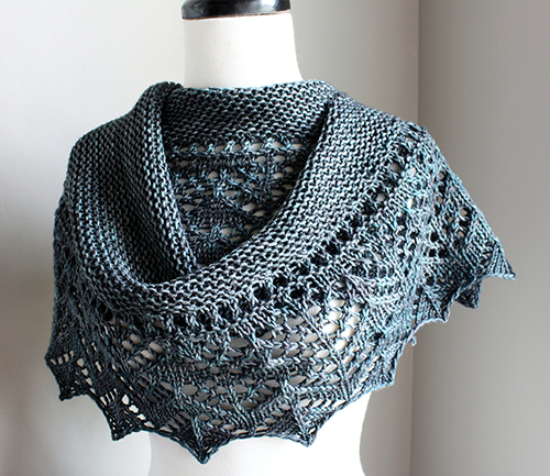 Knitting Patterns For Summer Shawls : Daily Knitting Patterns: Arroyo Summer Shawl