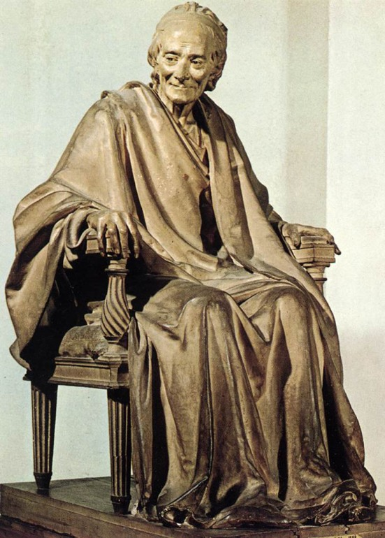 Statue of Voltaire by Houdon