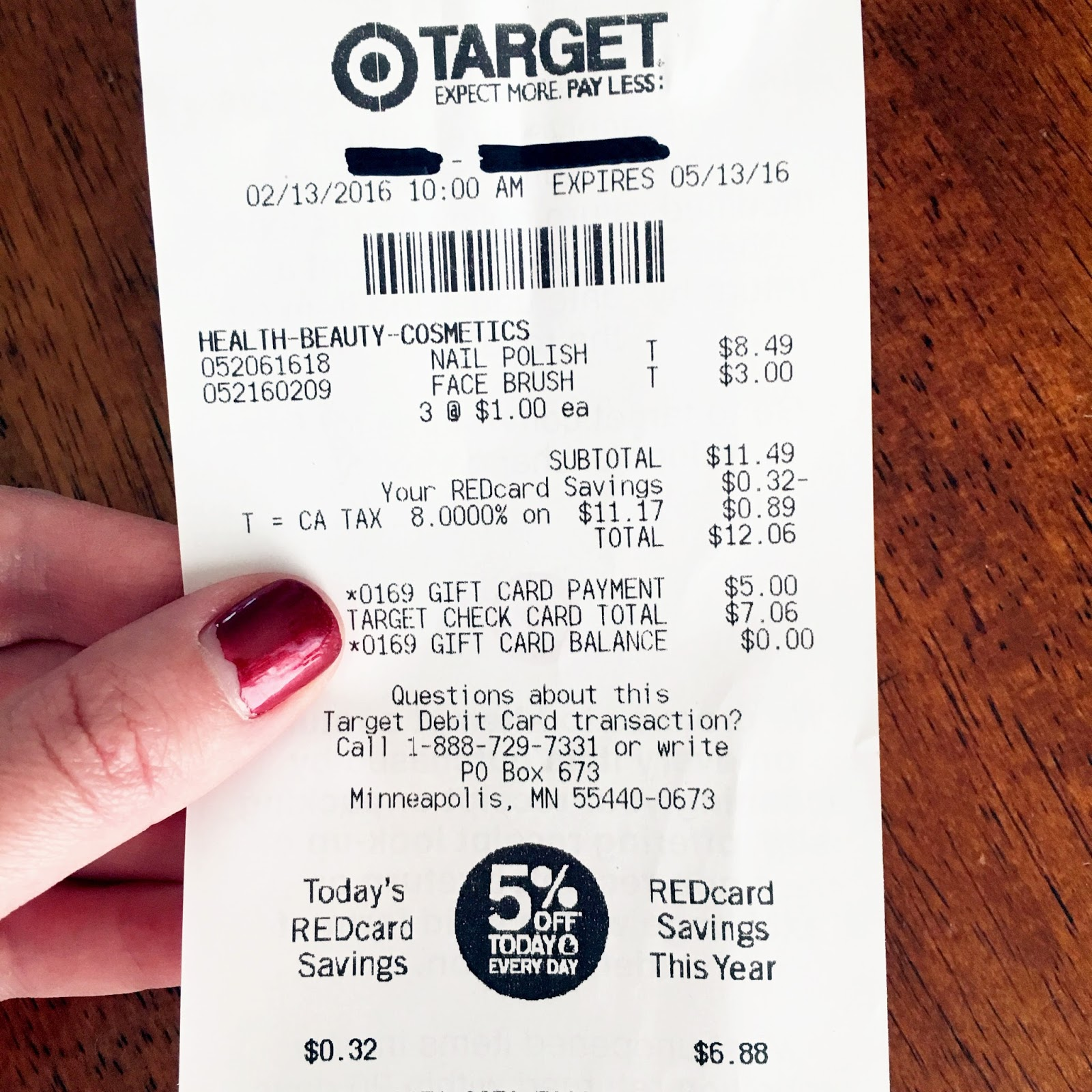 Received Wedding Gift Without Card : Target Receipt Gift Card Chasin mason: USD10 at target [february] + a ...