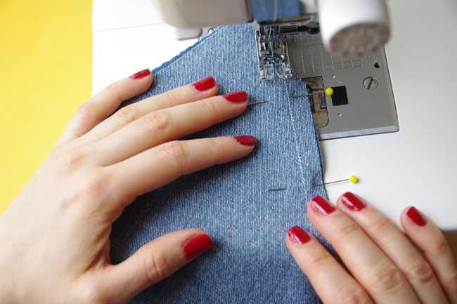 How to sew patch pockets on the Miette skirt