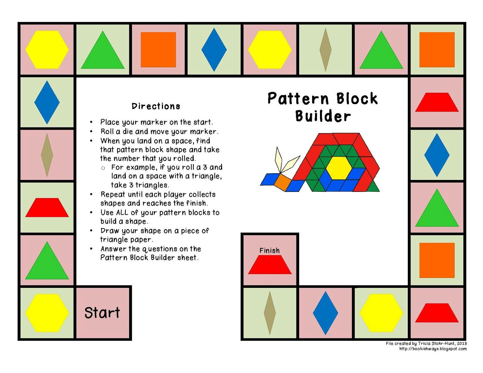 Worksheet Pattern Blocks Worksheet Grass Fedjp Worksheet