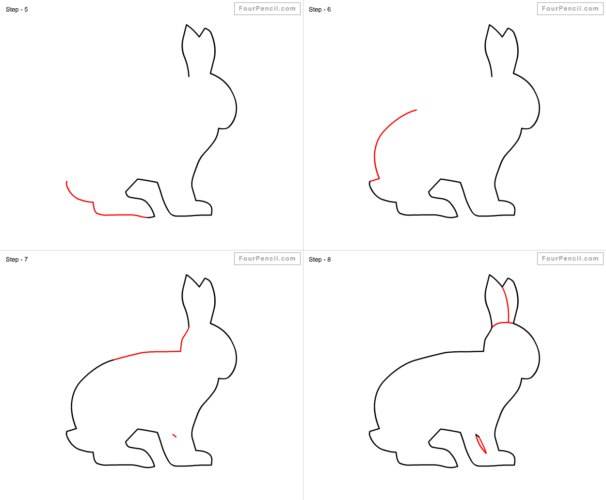 How to draw rabbit slide 1 how to draw rabbit for kids step