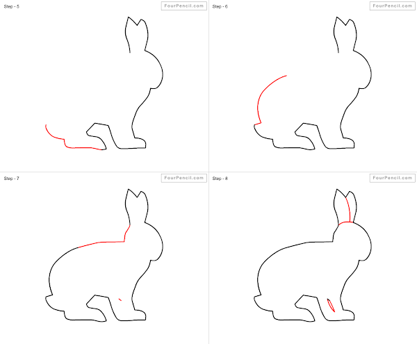 How to draw rabbit slide 1