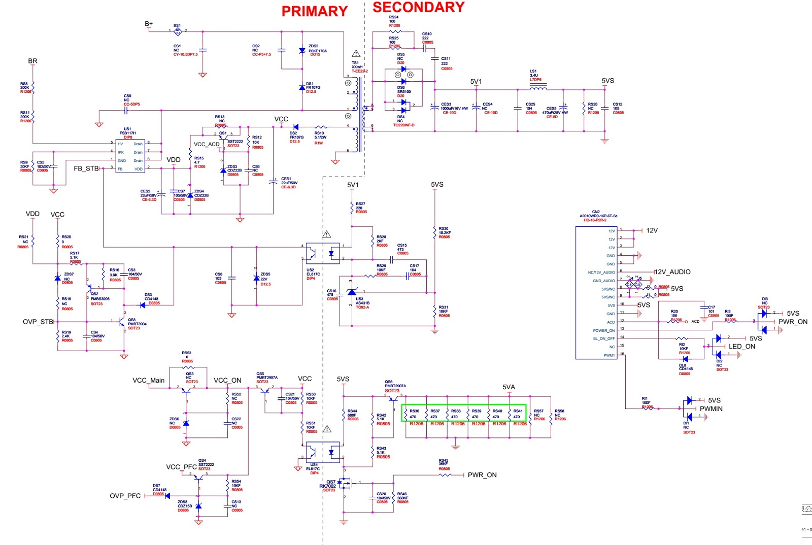 Toshiba 50l4333d How To Enter Service Mode Hotel Ovp Wiring Diagram Power Board Circuit Schematic