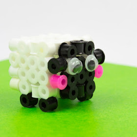 3d perler bead sheep craft- how to for kids