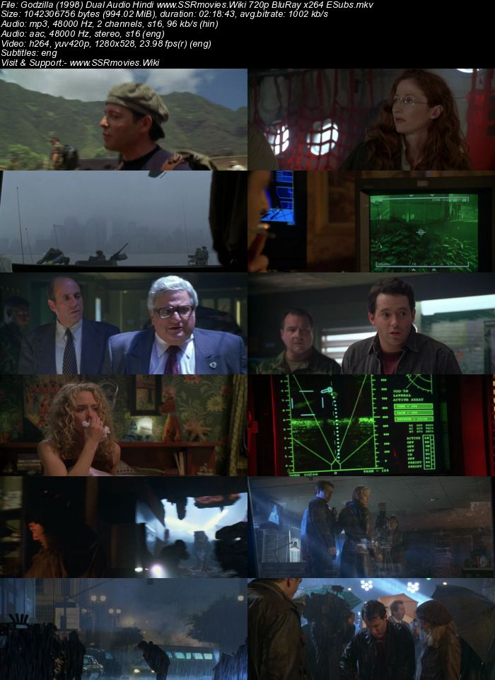 Godzilla (1998) Dual Audio Hindi 480p BluRay x264 450MB ESubs Movie Download