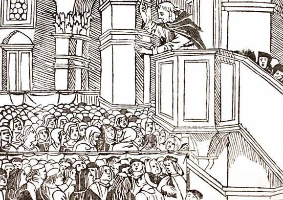 Girolamo Savonarola preach