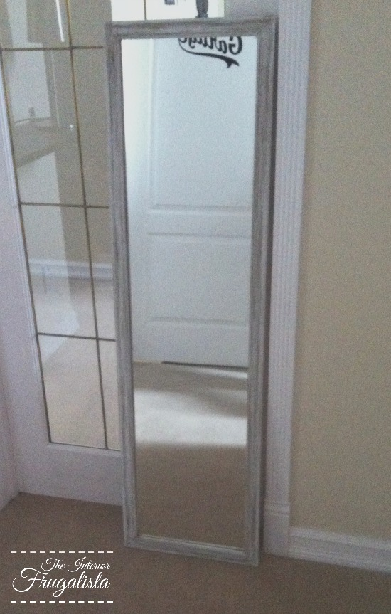 Inexpensive mirror before makeover
