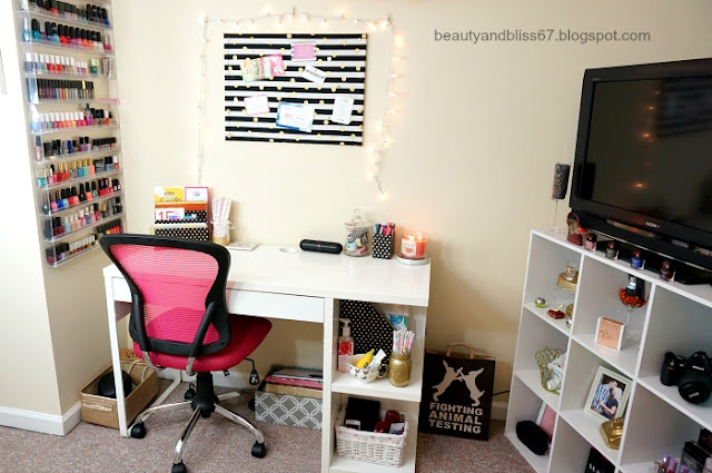 Beauty Amp Bliss Updated Beauty Room Home Office Tour