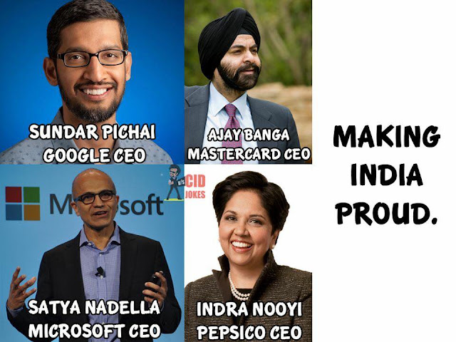 Proud to be an indian-CEO's of World Top Companies are from India