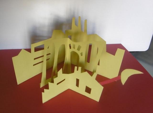 Rouge et or, ville, vue en plongée , malooka