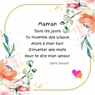Poème pour maman que j'aime de tout mon cœur