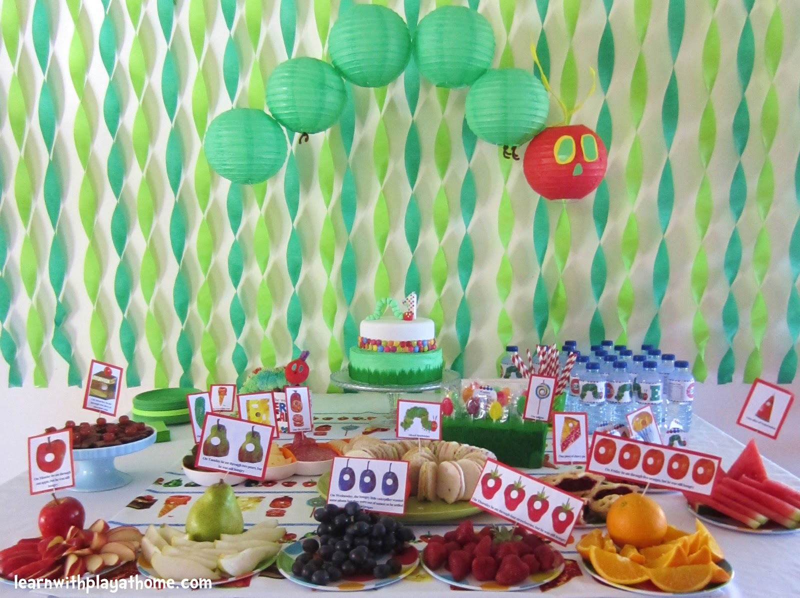 Birthday Birthday Party Ideas: Learn With Play At Home: Very Hungry Caterpillar Party