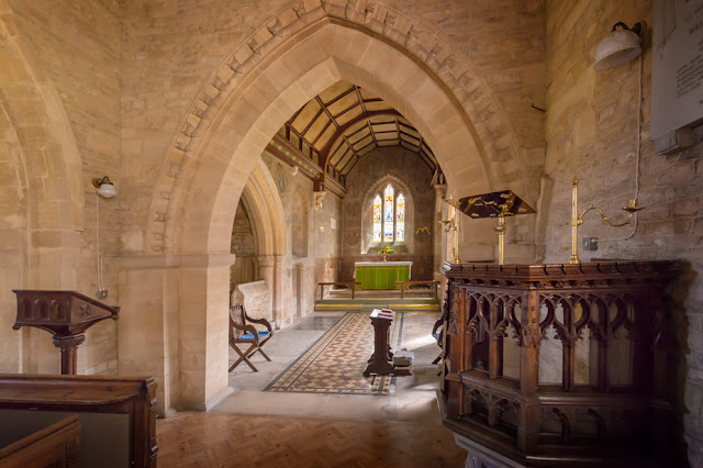 Church in the Oxfordshire village of Asthall by Martyn Ferry Photography