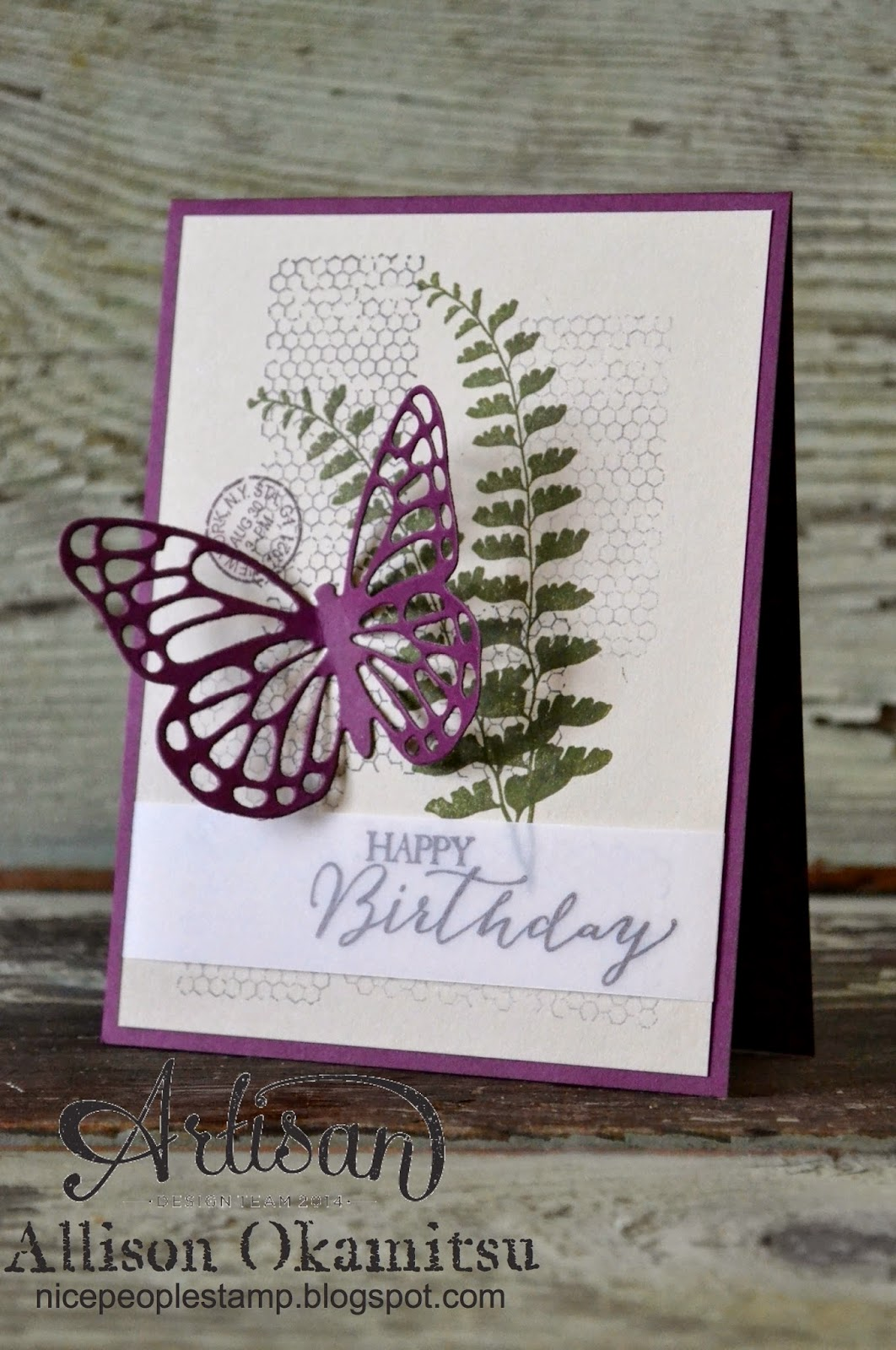 nice people stamp  stampin' up canada butterfly basics