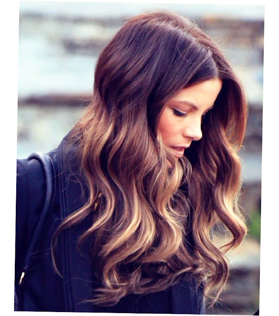 Balayage Highlights Dark Brown Hair Photo
