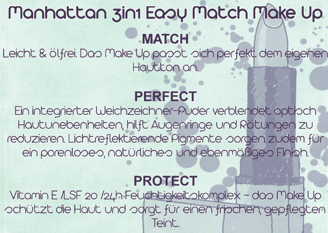 Produktversprechen 3in1 Easy Match Make Up