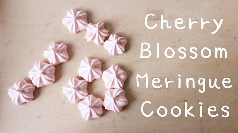 Cherry Blossom Meringue Cookies 櫻花蛋白餅
