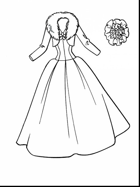 Magnificent Dress Coloring Pages With Wedding Coloring Pages Free And Free  Online Wedding Coloring Pages