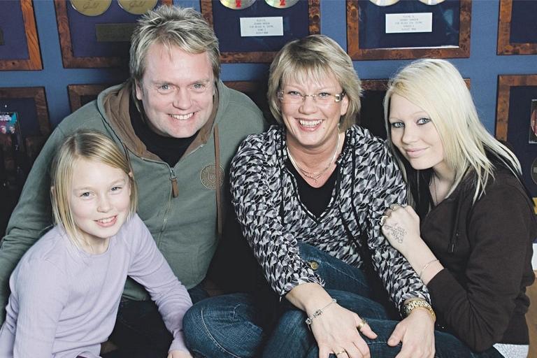 Johnny Hansen, Helle Bekhøj og børnene