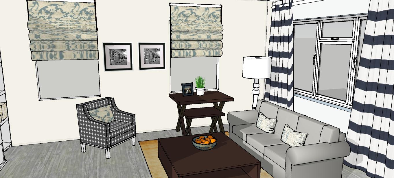 цветовая схема с белым комнаты