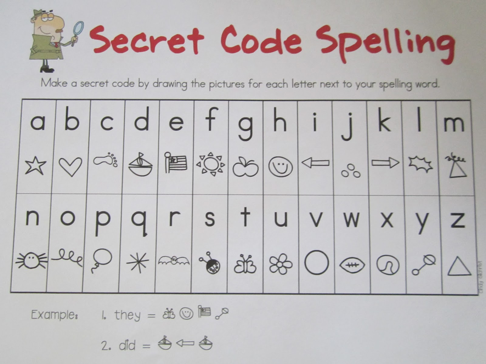 The Popcorn Reader Secret Code Spelling Idea 124