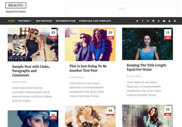 Remito Grid Blogger Theme