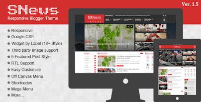 SNEWS Premium Blogger Template