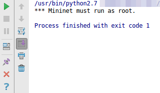 How to run root python scripts on Pycharm