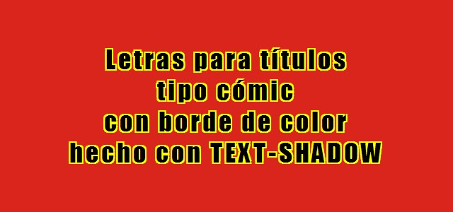 Borda para o texto com text-shadow