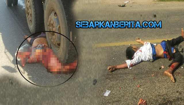 Antar Anak ke Sekolah, Jafar Dan Anaknya Tewas Terlindas Truk di Makassar.