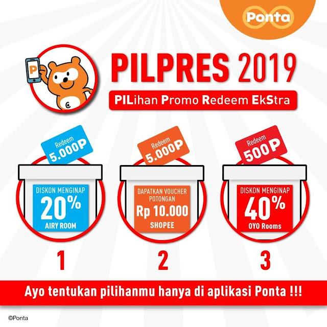 #Ponta - #Promo PILihan Promo Redeem EkStra (PILPRES 2019)