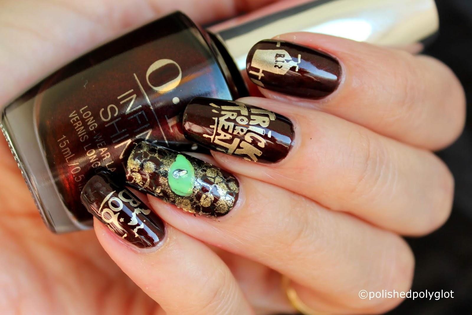 nail art │ vampy nails for halloween / polished polyglot