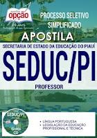 Apostila Concurso SEDUC-PI 2017 Professor