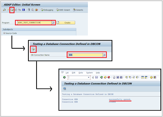 SAP HANA DBCO connection verification