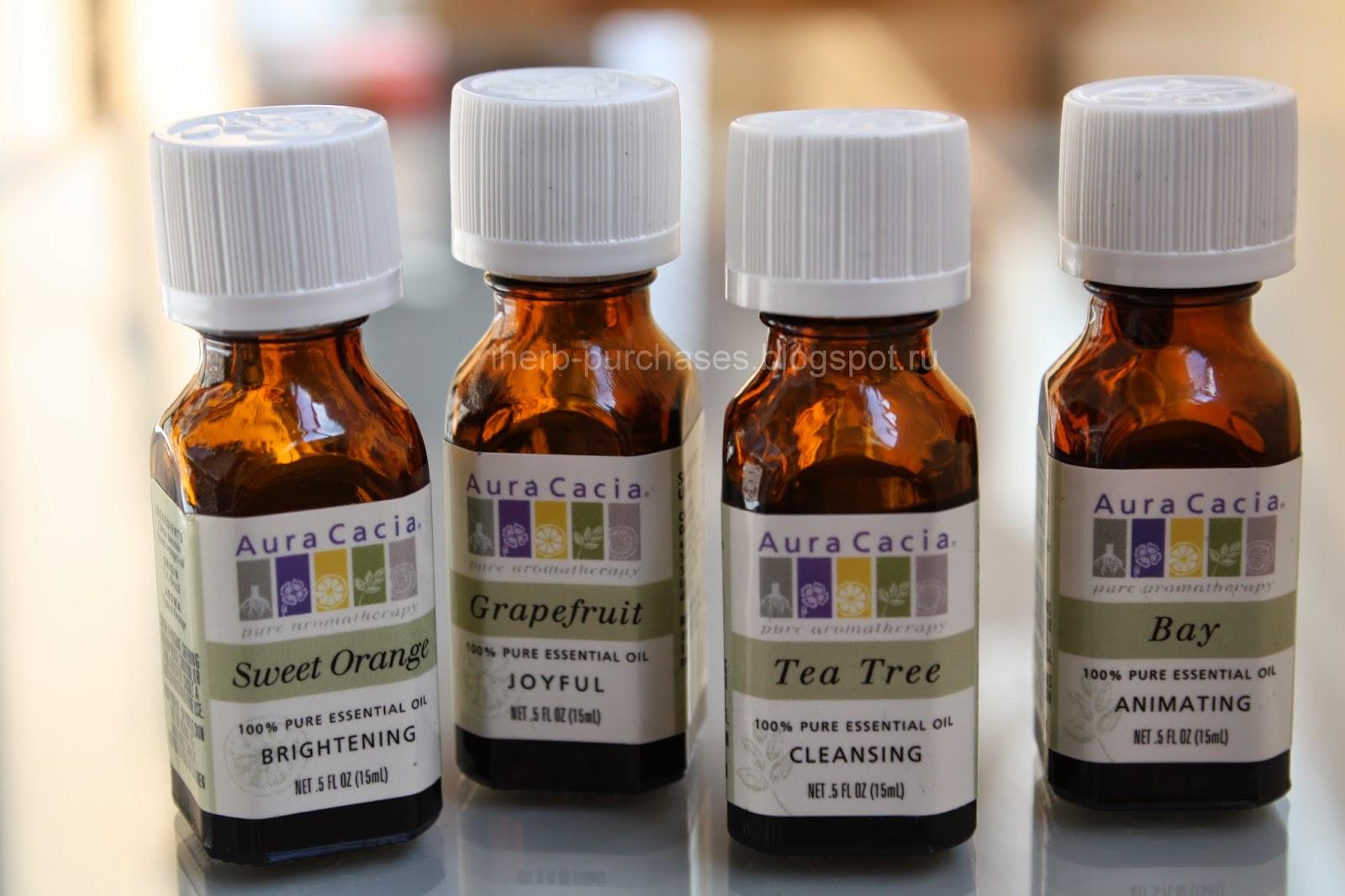 эфирное масло, апельсин, грейпфрут, бэй, чайное дерево отзыв обзор iherb