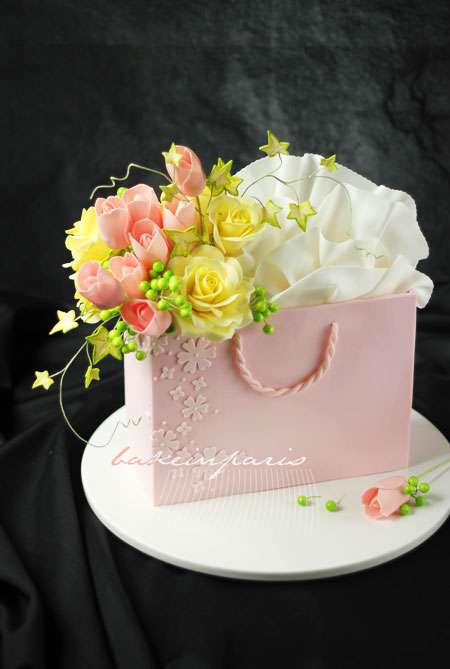 how to make small shopping bags out of fondant