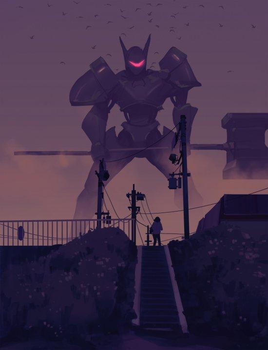 Atey Ghailan artstation deviantart arte ilustrações fantasia ficção científica games