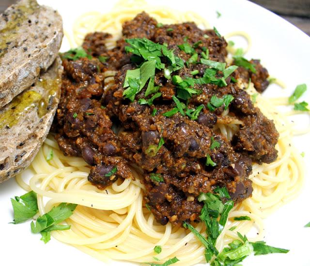 Oppskrift Portobello Bolognese Hjemmelaget Pastasaus Vegansk Vegetar Pastarett