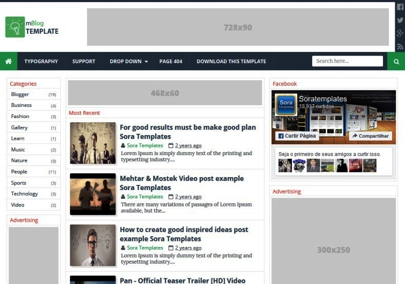 MBlog Is A Best Music Blogger Template Responsive Fast Loading Build For Online Professional Band Or