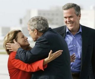 Image result for ileana ros-lehtinen with the Bush's