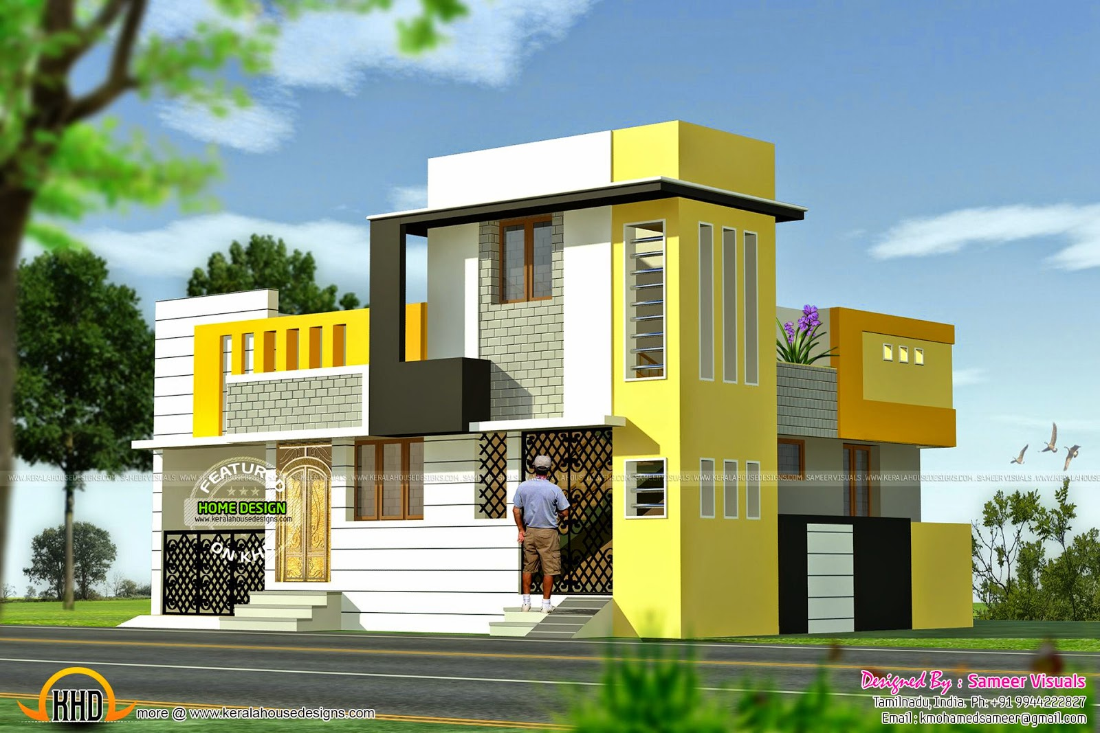 January 2015 kerala home design and floor plans for Normal house front design