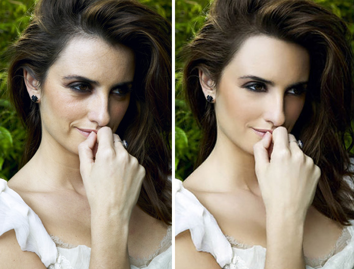 20 Before & After Images Of Celebs Reveal Society's Unrealistic Standards Of Beauty - Penelope Cruz