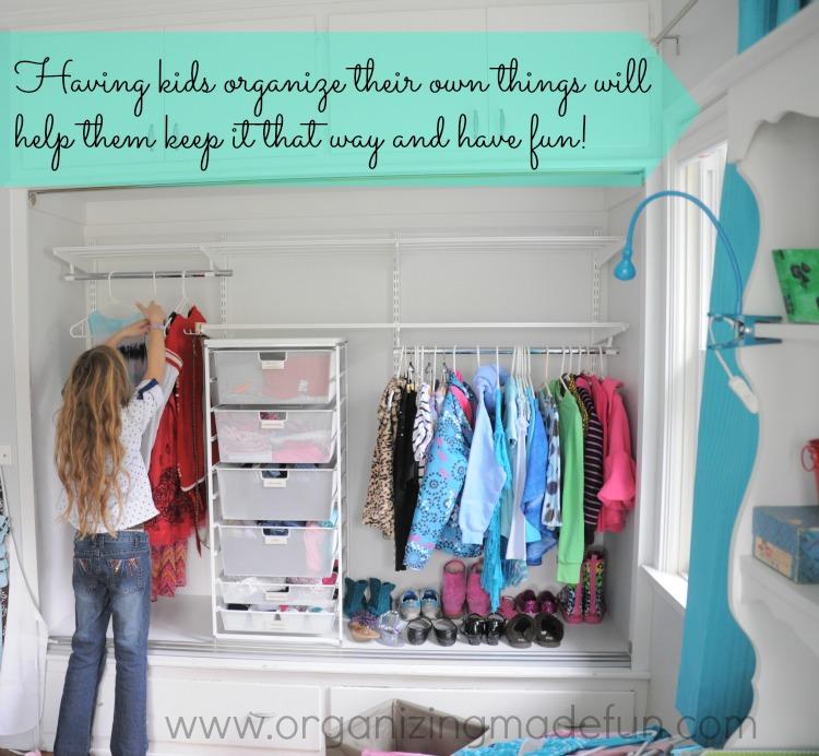 Perfectly Organized What Organizing Made Fun: The Big Girls' Organized Room!