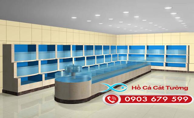 Thiết kế dàn hồ hải sản 3 tầng tại Vũng Tàu